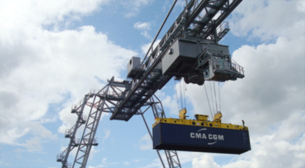Gantry cranes for reloading